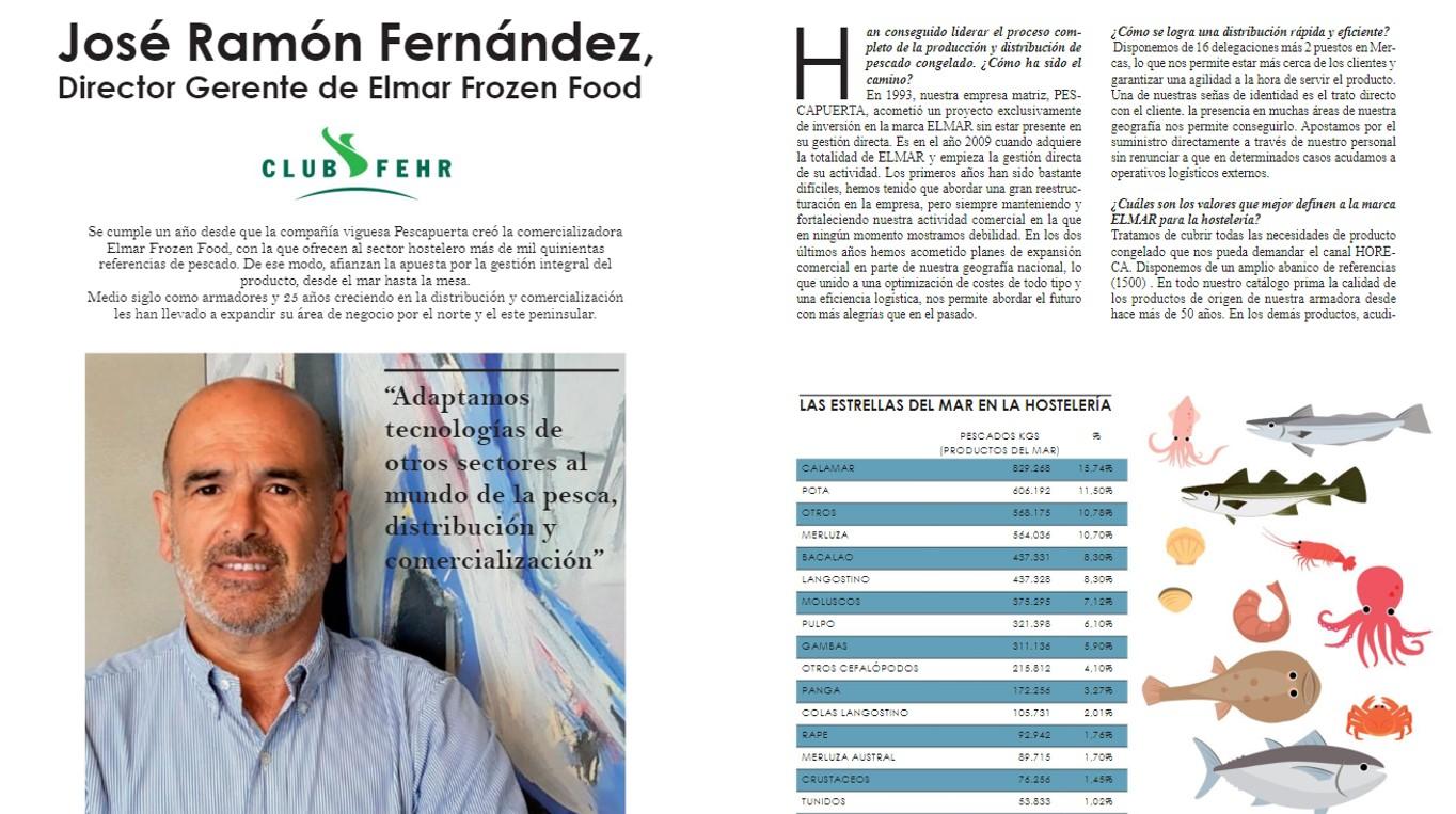 Entrevista a José Ramón Fernández, Director Gerente de Elmar Frozen Food, en la Revista de la Hostelería
